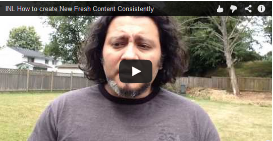 How to create fresh content